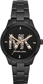 Michael Kors MK6683 Metal Stone Embellished Dial Round Analog Watch for Women - Black