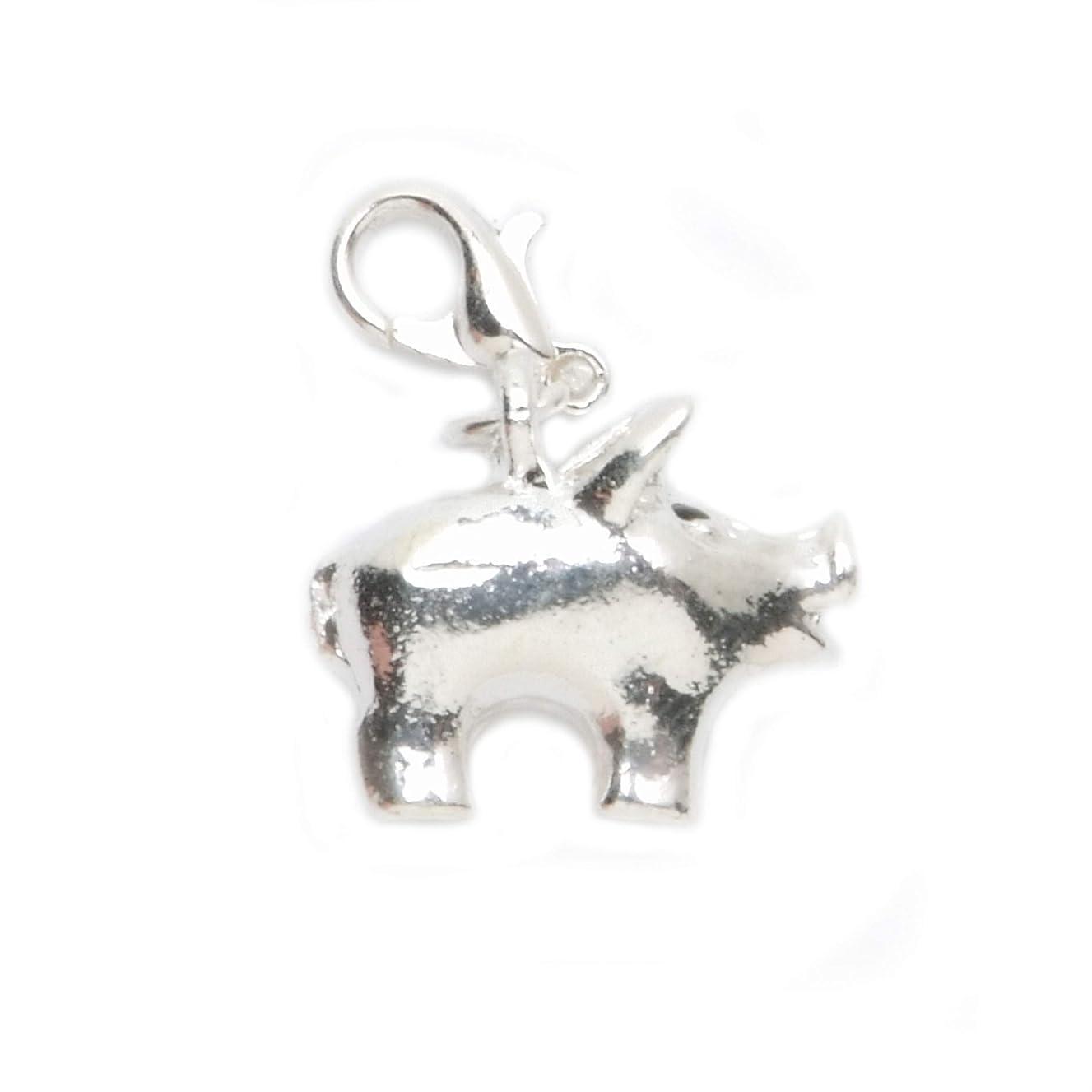 Darice JY080369 Lobsterclaw Charm Pig