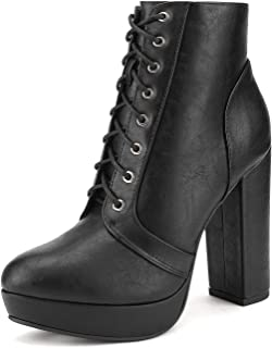 black pu ankle boots