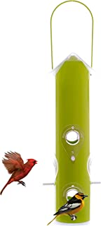 Metal Tube Wild Bird Feeder Attract More Birds Perfect for Garden Decoration, Great Bird Feeders for Small & Medium Birds, Easy to Clean and Fill Bird Feeder Hanger Included Great Gift & Fun Idea!