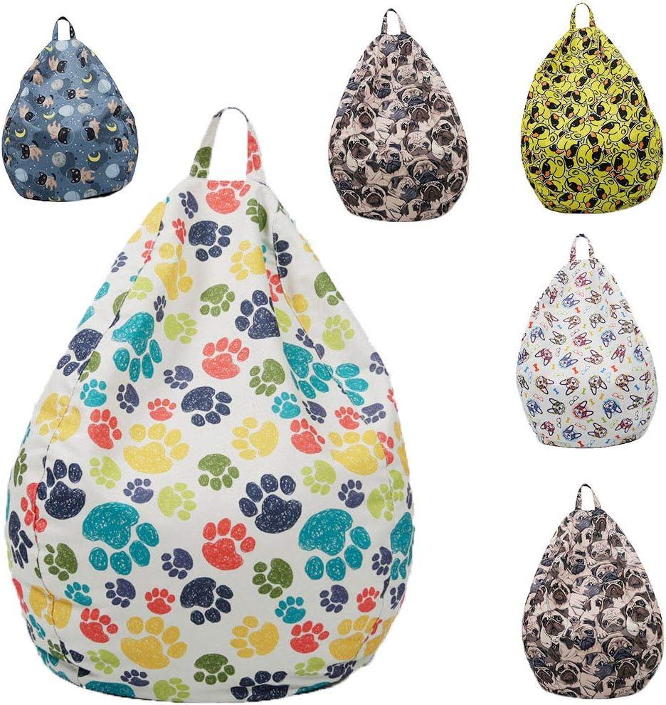 23.62x29.53in, Full Version Starling Bean Bag Cover Animal Storage Bean Bag Home Soft Lazy Sofa Cozy Chair Unfilled Lounge Bean Bag for Kids//Teens Beanbag Chair