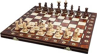 Wegiel ポーランド製 木製チェスセット セネター 41cm [並行輸入品]