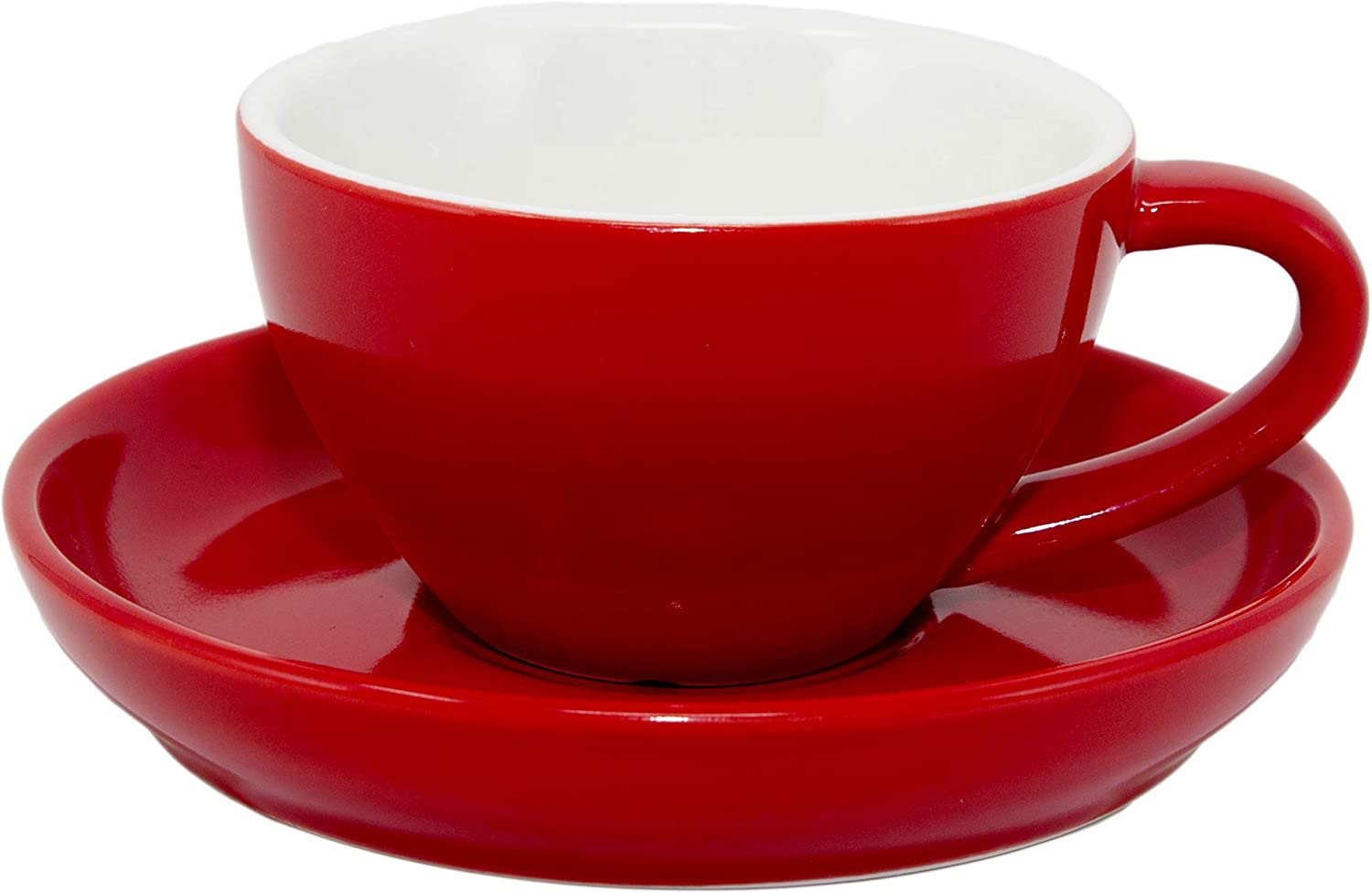 Cappuccino Cup and mart Saucer Durable 8 Ounce Capacity Porcelain for Manufacturer OFFicial shop