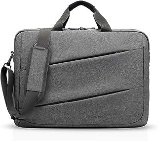 FANDARE Mode Laptoptasche Umhängetasche für 15.7 Zoll Laptop Handtasche Herren Damen Business Schultertasche Messenger Tasche für Studenten Outdoor Reisen Große Kapazität Wasserdicht Polyester Grau