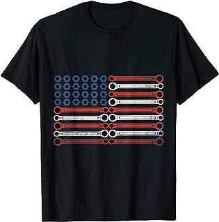 Mechanic The Official Mechanic USA Flag T-Shirt