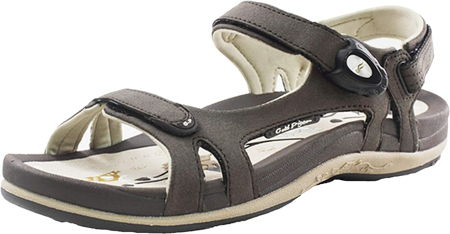 gold Pigeon shoes Closeout Sale  July Sale   9164 Women Easy Snap Lock (Magnetic Closure) Comfort Sandals