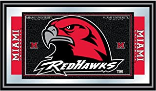 Miami University RedHawks School Letter Logo Pendant in Sterling Silver 9x12mm