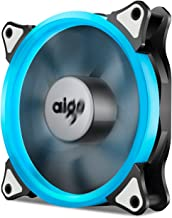 Aigo, Halo Ring LED 120mm 12cm PC CPU Computer Case Cooling Neon Quite Clear Fan Mod 4 Pin/3 Pin (120mm, Ice Blue)