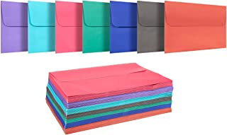 100 Pack Assorted Colors A7 Envelopes - Includes Blue, Pink, Purple, Green - for 5 x 7 Greeting Cards and Invitation Announcements - Self Seal Square Flap Envelopes - 5.25 x 7.25 Inches - 100 Count