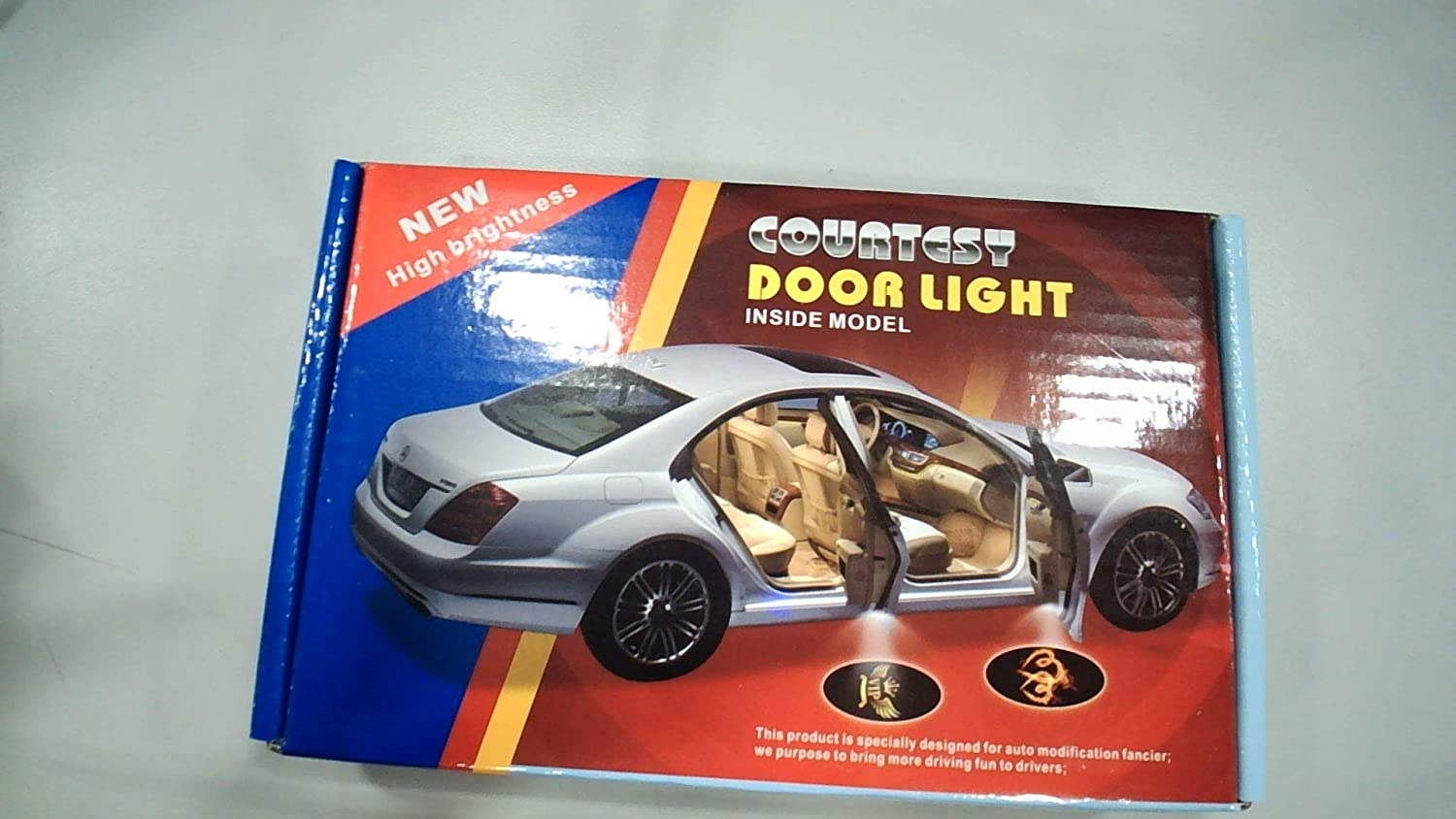 for Punisher 2Pcs LED Car Door Universal Wireless Car Door Light Courtesy Door Light Door Welcome Courtesy Puddle Light Fit for All Cars,Trucks,SUVs,Trailers,RVs etc