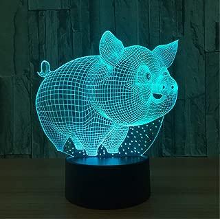 UDIYXC USB Baby Sleep Night Lights Fashion Bedroom Bedside Decor Cutely 3D Little Pig Modelling Table Lamp LED Lighting Xmas Kids Gifts