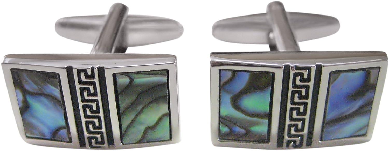 Abalone Shell Split Design Cufflinks