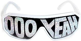 Rasslor OOO YEAH White Frame Gray Shield Sunglasses