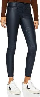 Amazon-Marke: find. Damen Skinny Fit-Hose mit Ledereffekt