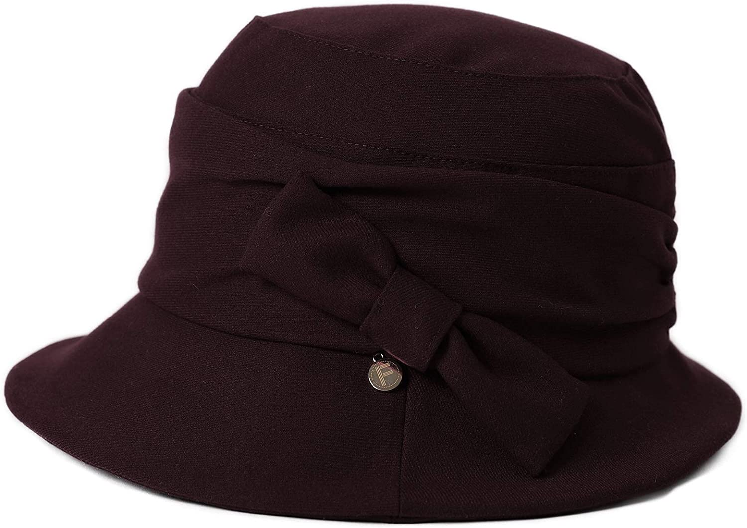 1920s Hat Styles for Women – History Beyond the Cloche Hat Fancet Ladies Wool Bucket Hat Winter 1920s Vintage Cloche Fashionable Derby Church Hats for Women Crushable & Adjustable  AT vintagedancer.com