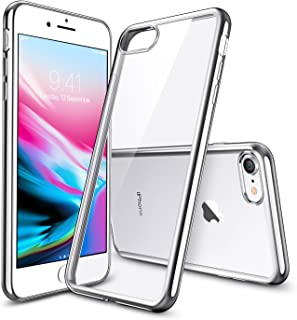 "iPhone 8 Case, iPhone 7 Case, ESR iPhone 8 Clear Soft TPU Cover [Support Wireless Charging] for Apple 4.7"" iPhone 8 (2017 Release)/ iPhone 7 (2016 Release)(Silver)"