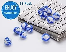 JUSTDOLIFE Washing Balls, Reusable Washing Balls Plastic Dryer Balls Magic Hair Fur Removal Laundry Balls to Save Clothes Washing and Drying Time (Blue&White)