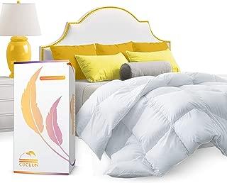 CUCUUN Real Premium Down Comforter King Cali Size   1200 TC   All-Season Goose Down Comforter  Fit Beds w Corner Tabs for King Duvet Insert/Queen Duvet Insert/Twin Duvets
