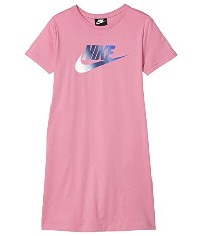 Nike Kids NSW Futura T-Shirt Dress (Little Kids/Big Kids) (Magic Flamingo/Hyper Blue) Girl
