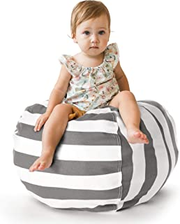 Creative QT Stuffed Animal Storage Bean Bag Chair - Toddler Size Stuff 'n Sit Organization for Kids Toy Storage - Available in a Variety of Sizes and Colors (27