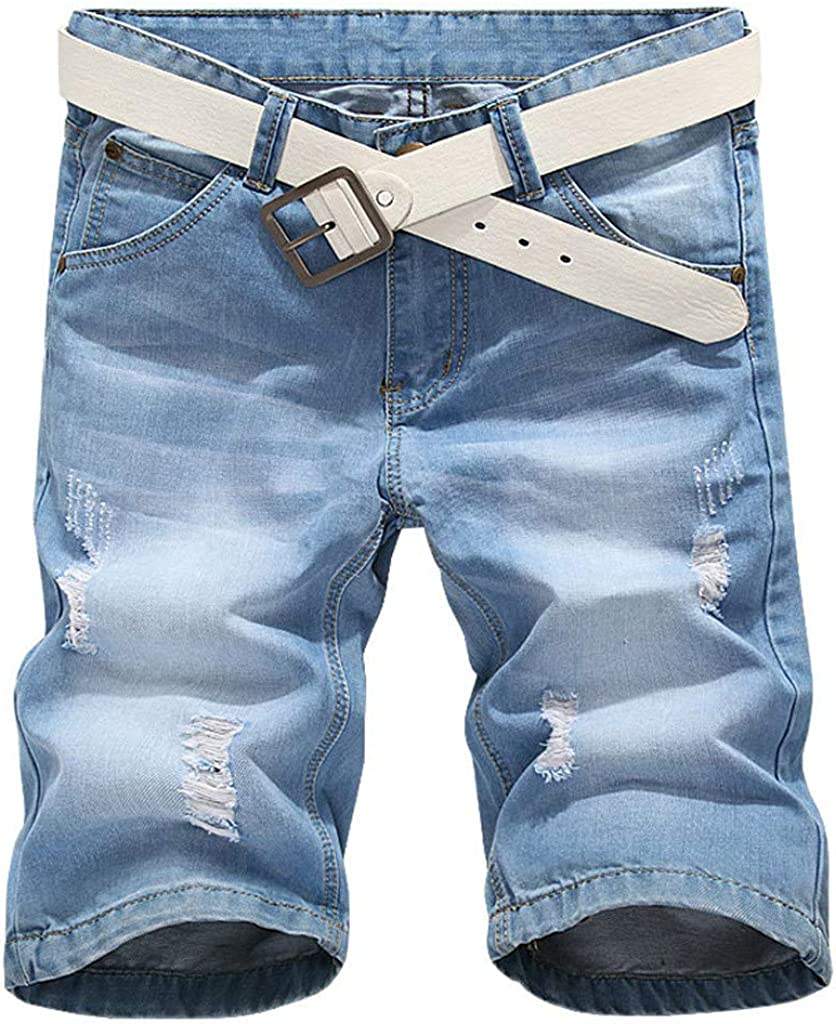 Jeans for Men Relaxed Fit,Forthery Men's Casual Autumn Denim Cotton Straight Ripped Hole Trousers Jeans Pants