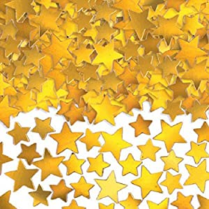 Amscan Confetti Decors Items, 5 oz, Gold