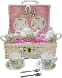 Delton Products Owls Children's Tea Set with Basket