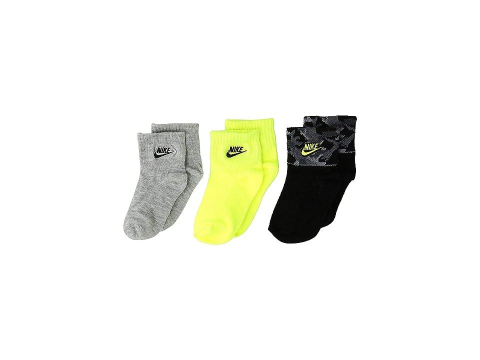 Nike Kids - Nike Kids 3-Pack Camo Gripper Ankle