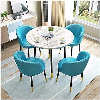 Mesa de comedor Juego de muebles Living room chair conjunto de mesa y moderna minimalista mesa y una silla Combinación cocina del restaurante redondo sólido de madera mesa de comedor La negociación de