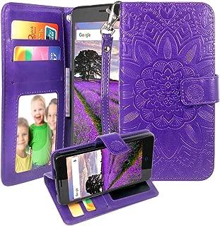 Harryshell ZTE Majesty Pro Case, ZTE Tempo Case, Kickstand Flip PU Wallet Leather Protective Case Cover with Card Slots & Wrist Strap for ZTE Majesty Pro Z799VL / Tempo N9131 (Purple)