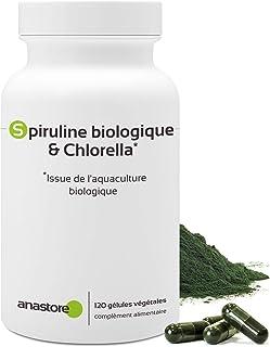 Espirulina ecológica y Chlorella * 400 mg/120 cápsulas * Dos algas ricas en vitaminas * Fabricado en Francia