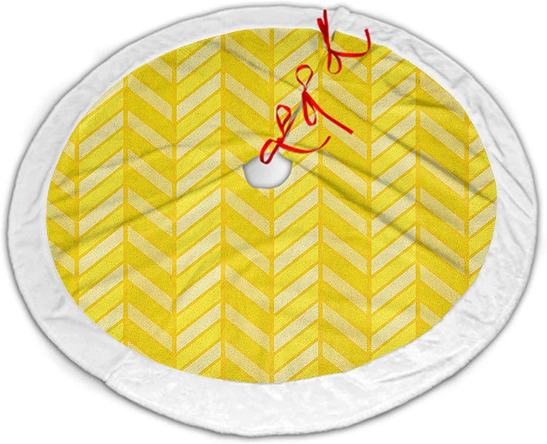 ScottDecor Financial sales Ranking TOP10 sale Yellow Chevron Christmas Tree Vertical Skirt Large Re