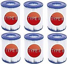 JSHN Cartuchos de filtro para piscina tamaño 2, cartucho de filtro tipo 2, para filtros Bestway II tamaño 2, para bomba de filtro Bestway 58094, accesorios para limpieza de piscinas (6 unidades)