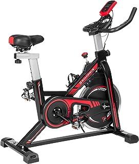 SONGMICS Vélo d'Appartement, Appareil Cyclisme d'intérieur, Fitness et Exercice à la Maison, en Salle, avec siège et Guido...