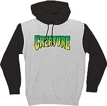 Creature Skateboards Logo Grey Heather/Black Men's Hooded Sweatshirt - X-Large