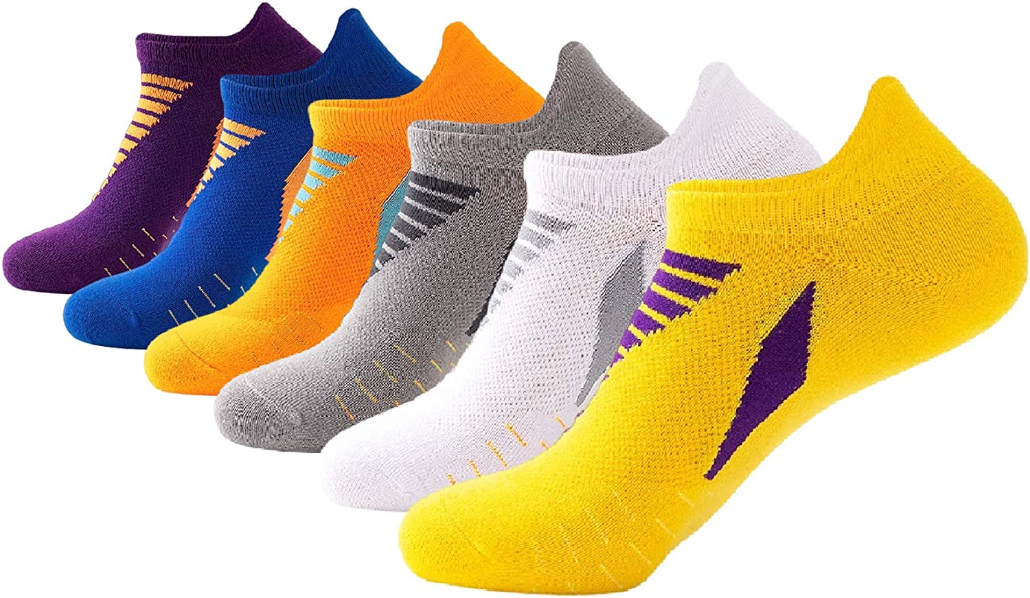 Maochcoi Womens 6-Pack Low Cut Ankle Socks Athletic Running Sports Cushioned Breathable Performance Socks