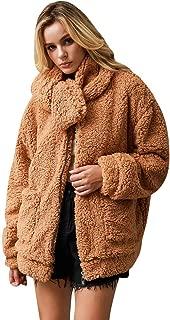 Women Faux Fur Jacket Coats Winter Long Sleeve Fashion 2020 Parka Lapel Overcoat Warm Thick Tops Cardigan Outerwear 3XL