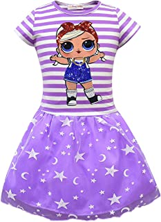 LATLONG サプライズ ドールLOL ドレス 子ども ガールズ 半袖 チュールスカート Lol Surprise Doll キッズ ワンピース 可愛い 女の子ドレス