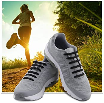 HOMAR No Tie Shoelaces for Kids and Adults - Best in Sports Fan Shoelaces - Stretch Silicone Elastic No Tie Shoe Lace...