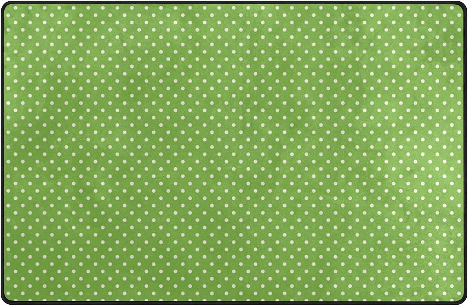 DEZIRO White Dots Green Background Floor mats for Home Entry Way Area Rug Doormat Carpet shoes Scraper Anti-Slip Washable
