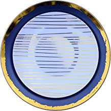 Trendables 40 - Pack Combo Premium Disposable Plastic Plates, Food Grade Elegant Plastic Dinner Plates - Glam Design Includes: 20 x 10.25