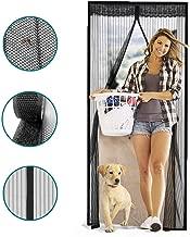 Cortina mosquitera magnética para puertas con malla super fina para dejar pasar el aire fresco y cierre magnético que se cierra automáticamente para dejar a los insectos fuera fácil de instalar Magic Black 90x210cm