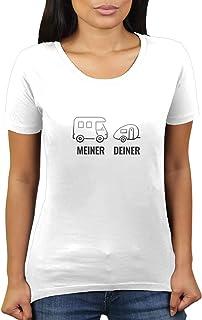 KaterLikoli - Camiseta de Manga Corta para Mujer, diseño con Texto en alemán