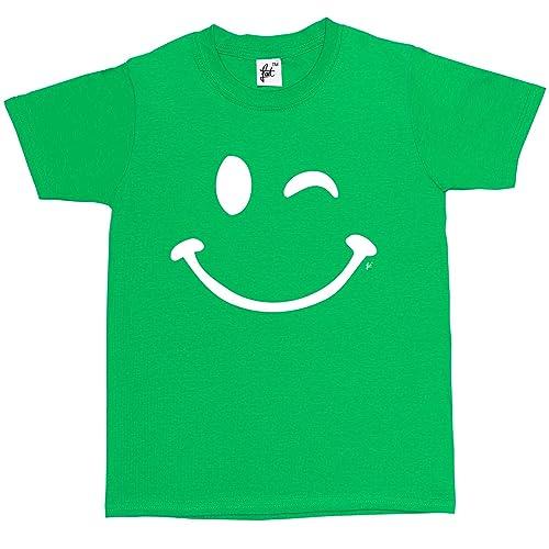 984ebe3c Fancy A Snuggle Retro Happy Funny Winking Emoticon Face Kids Boys / Girls T- Shirt