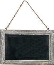 Sullivans (SUL-) Hanging Distressed Metal Chalkboard Sign - 18