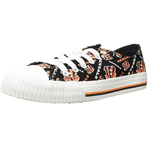 d86275a7df696f FOCO NFL Womens Low Top Repeat Print Canvas Shoes
