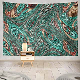 ONELZ Wall Hanging Tapestry, Colorful Psychedelic Abstract Art Border Bright Bubble Clean Decay Fantasy Fractal Geometric Glass Decor Collection Bedroom Living Room 60 L X 80 W Polyester
