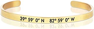 صنع في بعض الأحيان 0.08 سم × 2 بوصة كولومبوس، سوار OH جولد الإحداثيات بار