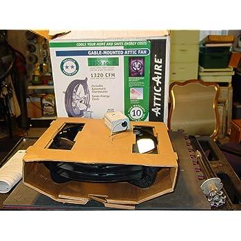 AIR VENT 53320 Gable-Mounted Power Attic Ventilator