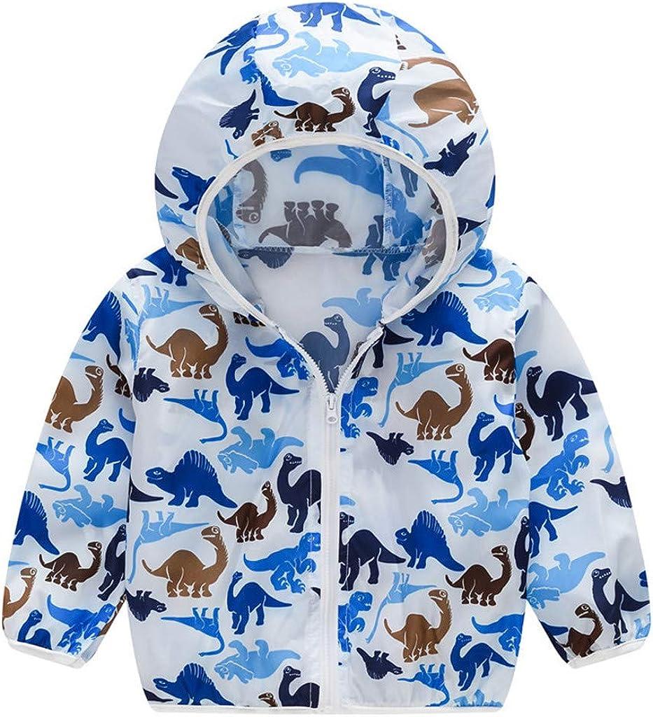 Digood Girls Hoodie Coat Kids Summer Sunscreen Jackets Printing Hooded Outerwear Zipper Coats,Cotton OutwearDC85
